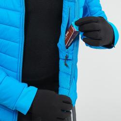 男童款3合1超保暖雪地健行外套SH500(7到15歲)-藍色