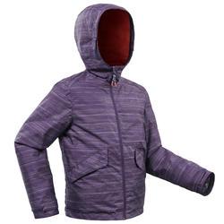 Veste chaude de randonnée neige SH100 WARM fille 8-14 ans mauve