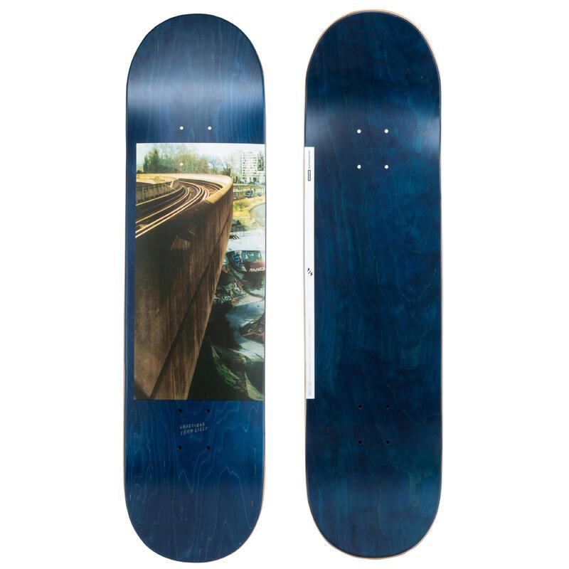 """Skateboardová deska z javoru DK120 Greetings 8,25"""" modrá"""