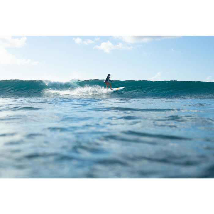 Top Camiseta Proteción Solar Playa Surf Olaian Uvtop100L Mujer Negro ANTI-UV
