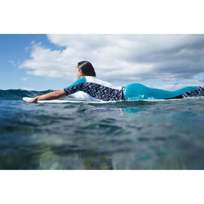 LEGGING SURF ANTI UV 500 FEMME F NOIR ET TURQUOISE