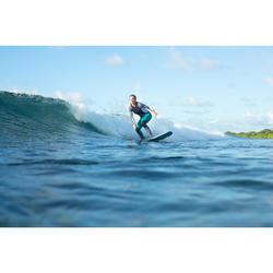 231a567789c02 Camiseta con protección UV top de surf 500 manga largas mujer blanca y negra