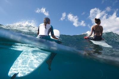 WOMEN'S UV-RESISTANT 500 SURF LEGGING PINK AND BLACK