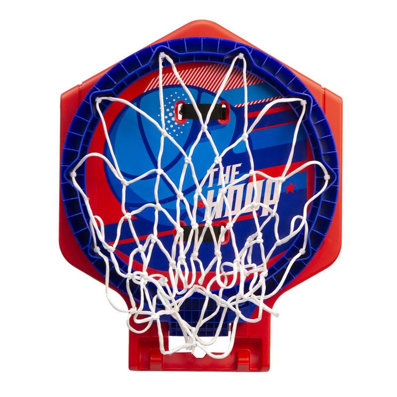 Aro de basketball niños/adultos THE HOOP 500 balón azul rojo. Transportable.