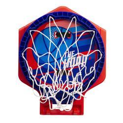 Basketbalbord voor kinderen/volwassenen The Hoop 500 bal blauw/rood. Mobiel.