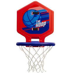 兒童/成人款可攜帶式籃球框Hoop 500-藍色/紅色。
