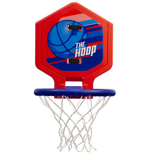 PANNEAU DE BASKET MOBILE ENFANT / ADULTE THE HOOP 500 BALLON BLEU ROUGE