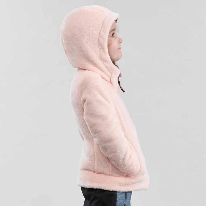 2到6歲兒童款健行刷毛外套SH500-粉紅色