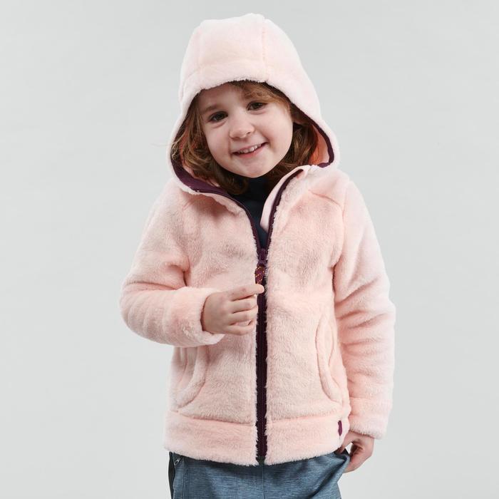 Fleecejacke Wandern SH500 Warm Kleinkinder 86-122cm rosa