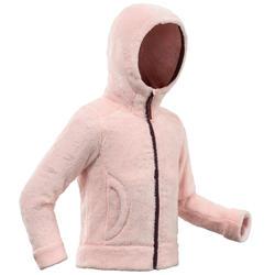 Fleecejacke Winterwandern SH500 Warm Kleinkinder Mädchen 86-116cm rosa