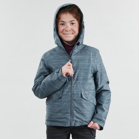 Girls 8-14 Years Winter Hiking Jacket SH100 WARM - Grey