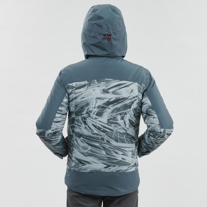 男童款8到14歲3合1超保暖雪地健行外套SH500-灰色