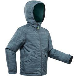Veste chaude de randonnée neige SH100 WARM fille 8-14 ans grise