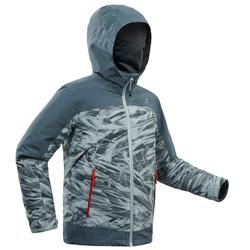 Boy's age 8-14 3in1 warm Snow Hiking Jacket SH500 X-WARM - Grey