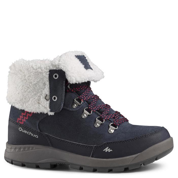 78bb007bda Botas de senderismo nieve mujer SH500 x-warm high azul Quechua ...
