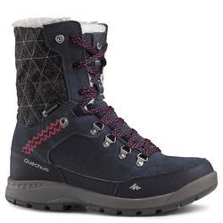Dames wandelschoenen voor de sneeuw SH500 X-warm high blauw