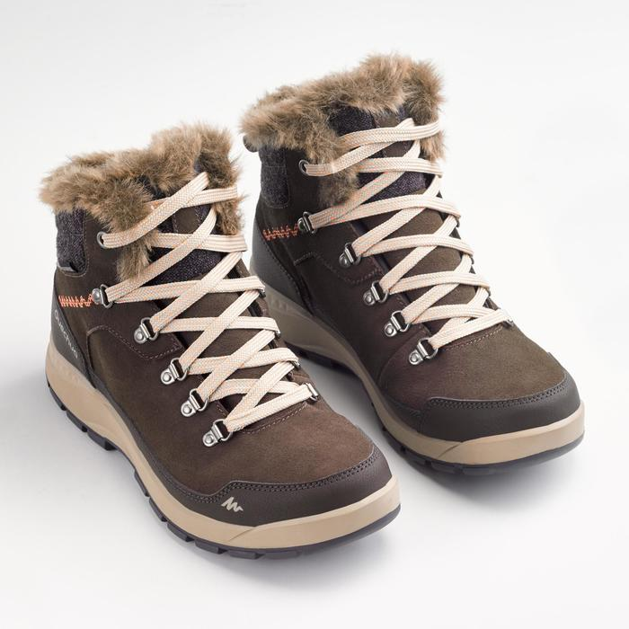 Winterschuhe Winterwandern SH500 Extra-Warm Damen kaffeebraun