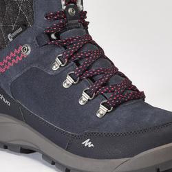 女款超保暖雪地健行高筒靴SH500-藍色
