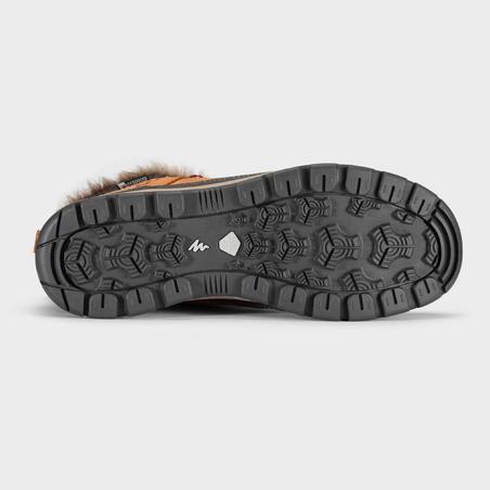 Chaussures de randonnée neige femme SH500 x-warm mi-hauteur camel