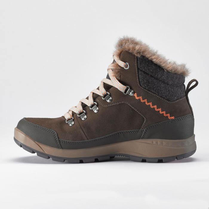 Chaussures de randonnée neige femme SH500 x-warm mid café