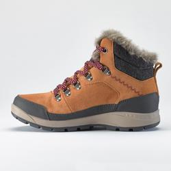 Dames wandelschoenen voor de sneeuw SH500 X-warm mid camel