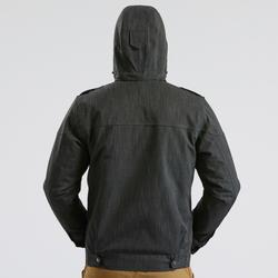 Veste chaude imperméable de randonnée neige homme SH500 x-warm gris carbone.