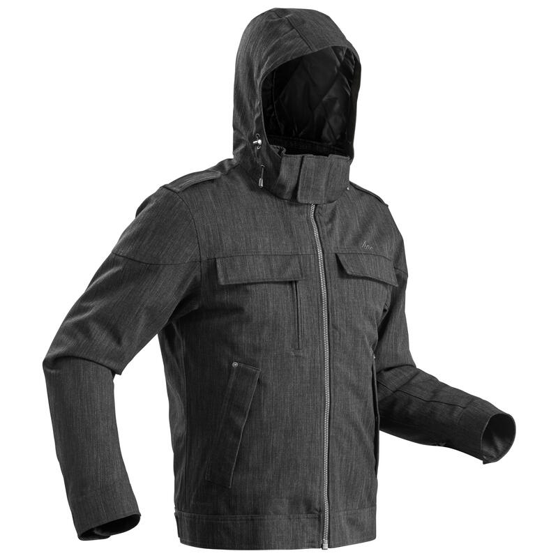 Men's Warm Waterproof Snow Hiking Jacket SH500 X-Warm - Carbon Grey.