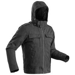 Chaqueta cálida impermeable de senderismo nieve hombre SH500 x-warm gris carbono