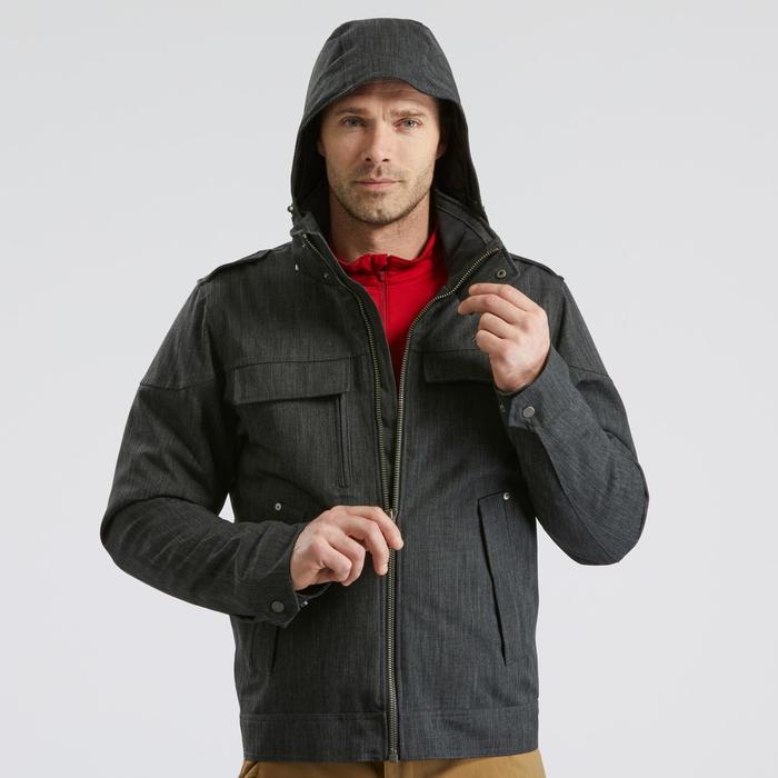 Veste de randonnée neige homme SH500 x-warm gris carbone.