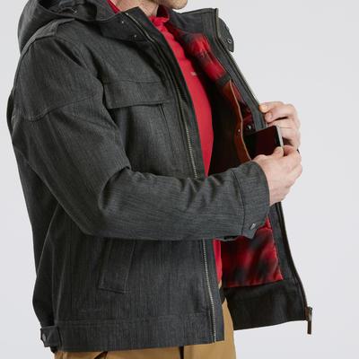 Chaqueta cálida impermeable senderismo nieve - SH500 X-WARM - hombre.