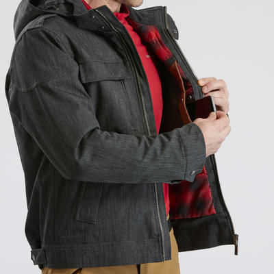 Men's Warm Waterproof Snow Hiking Jacket SH500 X-Warm - Carbon Grey.