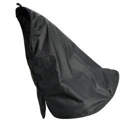 Couvre-cou imperméable équitation cheval ALLWEATHER LIGHT noir