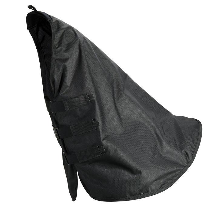 Halsteil Allweather Light wasserdicht Pferd schwarz
