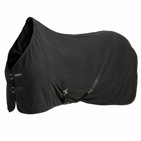 Chemise d'écurie équitation cheval et poney POLAR ÉLÉMENTAIRE noir