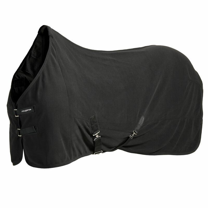 Chemise d'écurie équitation cheval et poney POLAR BASIC noir