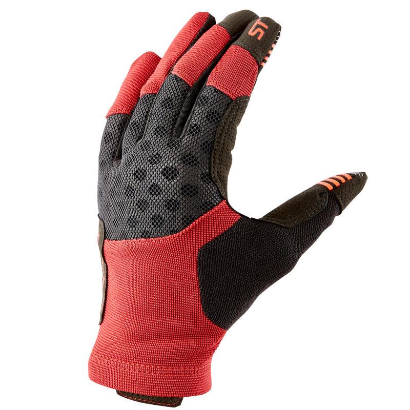 ถุงมือปั่นจักรยานเสือภูเขารุ่น ST 500 (สีแดง)