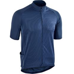 MAILLOT MANCHES COURTES TPS CHAUD VELO ROUTE HOMME CYCLOTOURISME RC100 NAVY