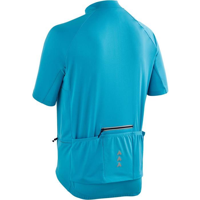 Fietsshirt met korte mouwen voor wielrennen heren RC100 warm weer blauw