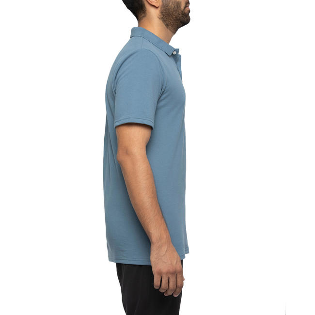 Mens Golf Polo T-Shirt 500 Light Blue