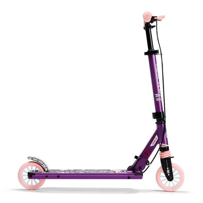 Patinete Scooter Oxelo MID 5 Niños Freno en el Manillar Violeta/Rosa