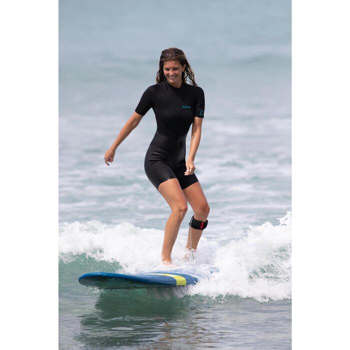 Combinaison Surf Shorty 100 Néoprène 1,5mm femme noir