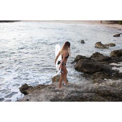 Zapatillas Playa Surf Olaian Mujer Tela Cerradas Canela