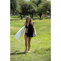 Toalla Playa Surf Olaian Negro Gris Algodón Grande