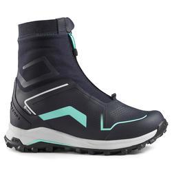 女款超保暖雪地健行中筒鞋SH920-藍色