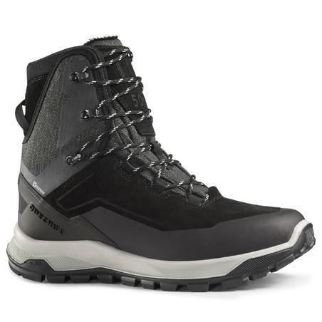 Чоловічі черевики SH500 U-Warm для зимового туризму - Чорні