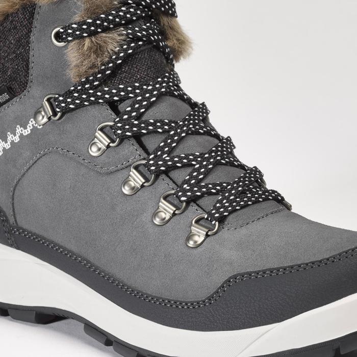 Chaussures de randonnée neige femme SH500 x-warm mid gris