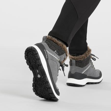 Жіночі черевики SH500 X-Warm для зимового туризму, середньої висоти - Сірі
