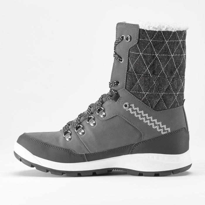 Chaussures de randonnée neige femme SH500 x-warm high gris