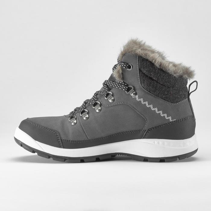 Winterschuhe Winterwandern SH500 Extra-Warm halbhoch Damen grau