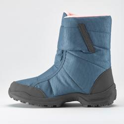 KIDS' WARM AND WATERPROOF SNOW BOOTS - SH100 X-WARM